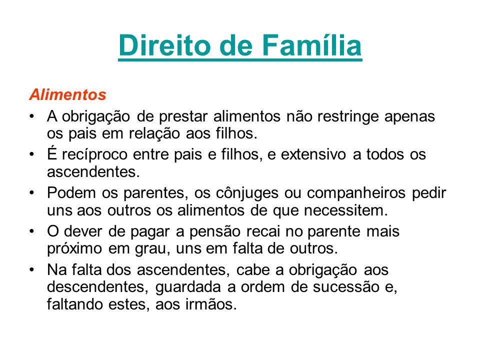 Direito de Família Alimentos