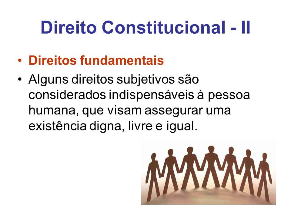 Direito Constitucional - II