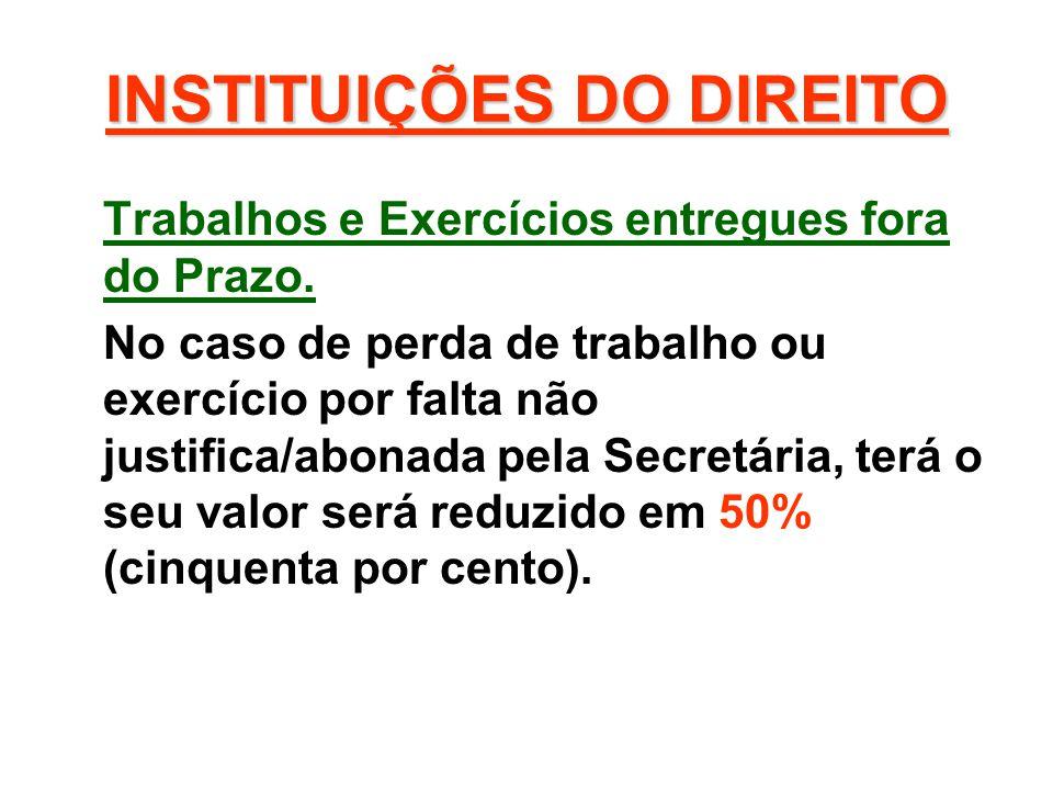 INSTITUIÇÕES DO DIREITO