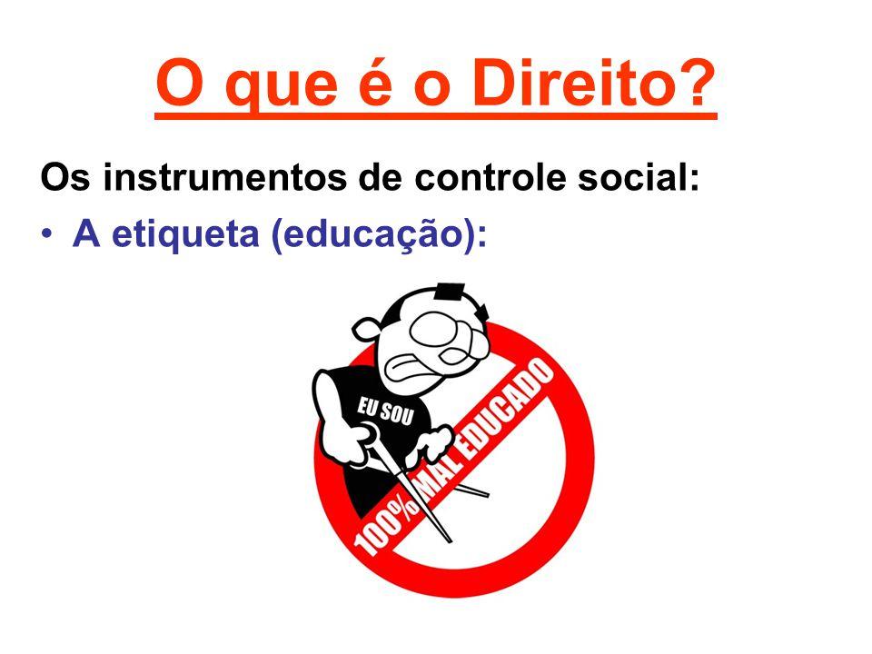 O que é o Direito Os instrumentos de controle social: