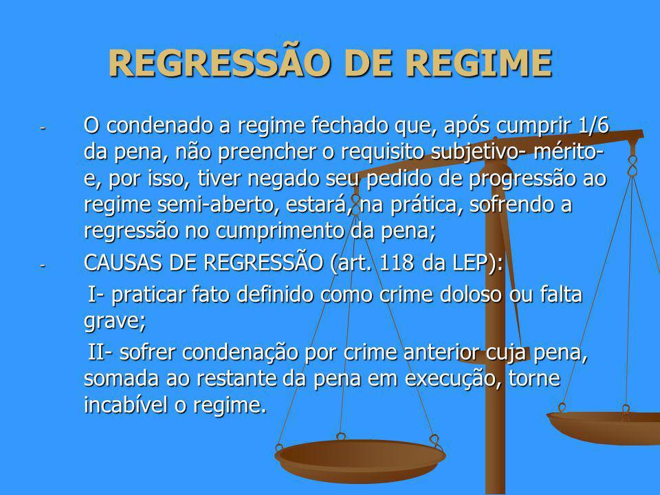 REGRESSÃO DE REGIME