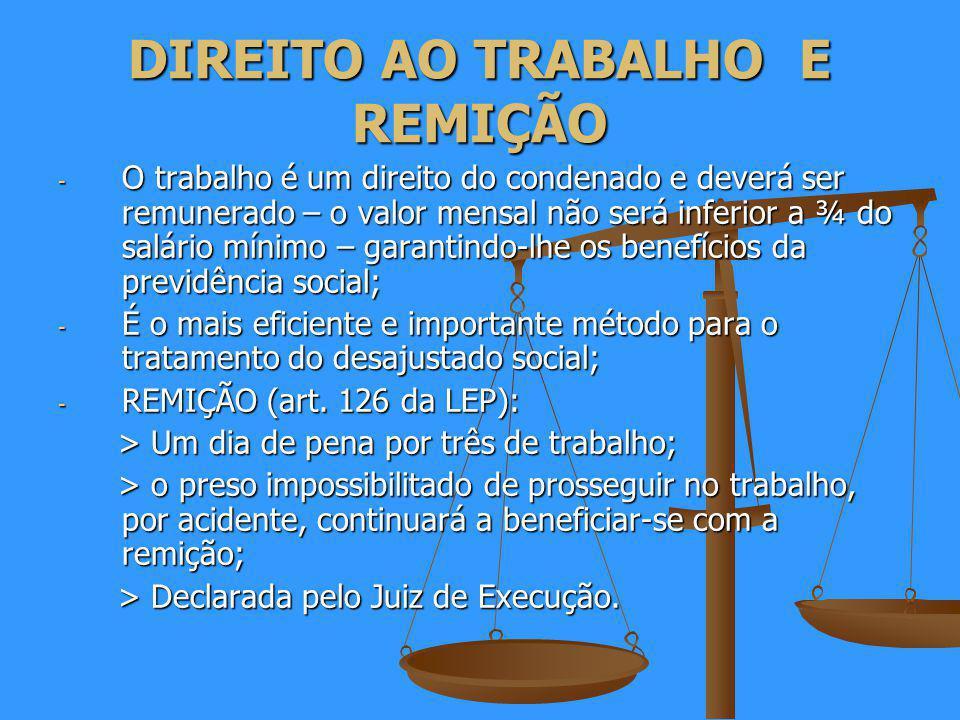 DIREITO AO TRABALHO E REMIÇÃO
