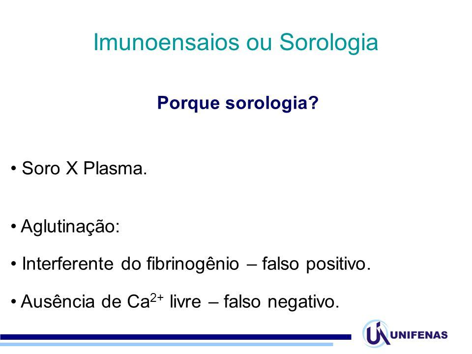 Imunoensaios ou Sorologia