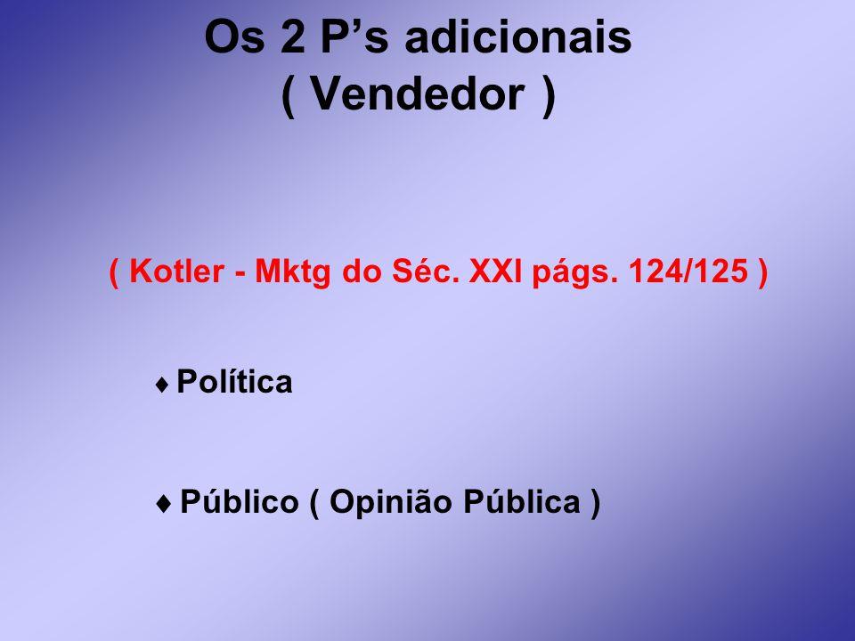Os 2 P's adicionais ( Vendedor )