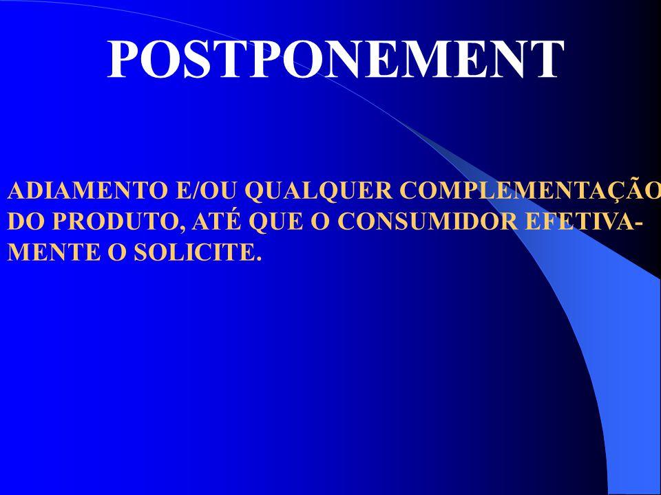 POSTPONEMENT ADIAMENTO E/OU QUALQUER COMPLEMENTAÇÃO
