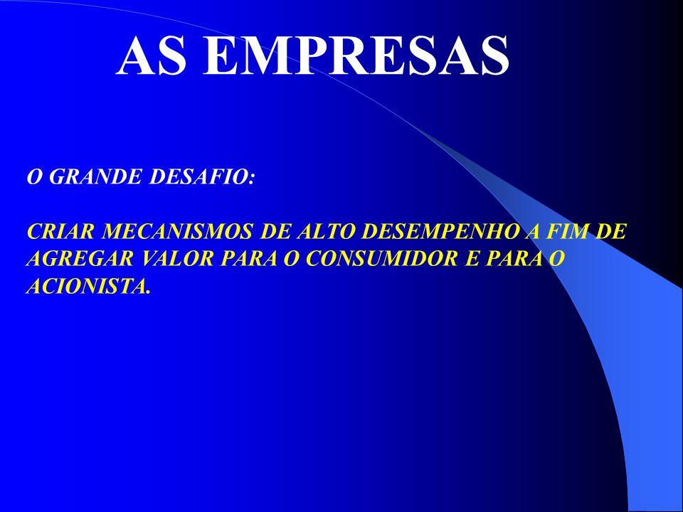 AS EMPRESAS O GRANDE DESAFIO: