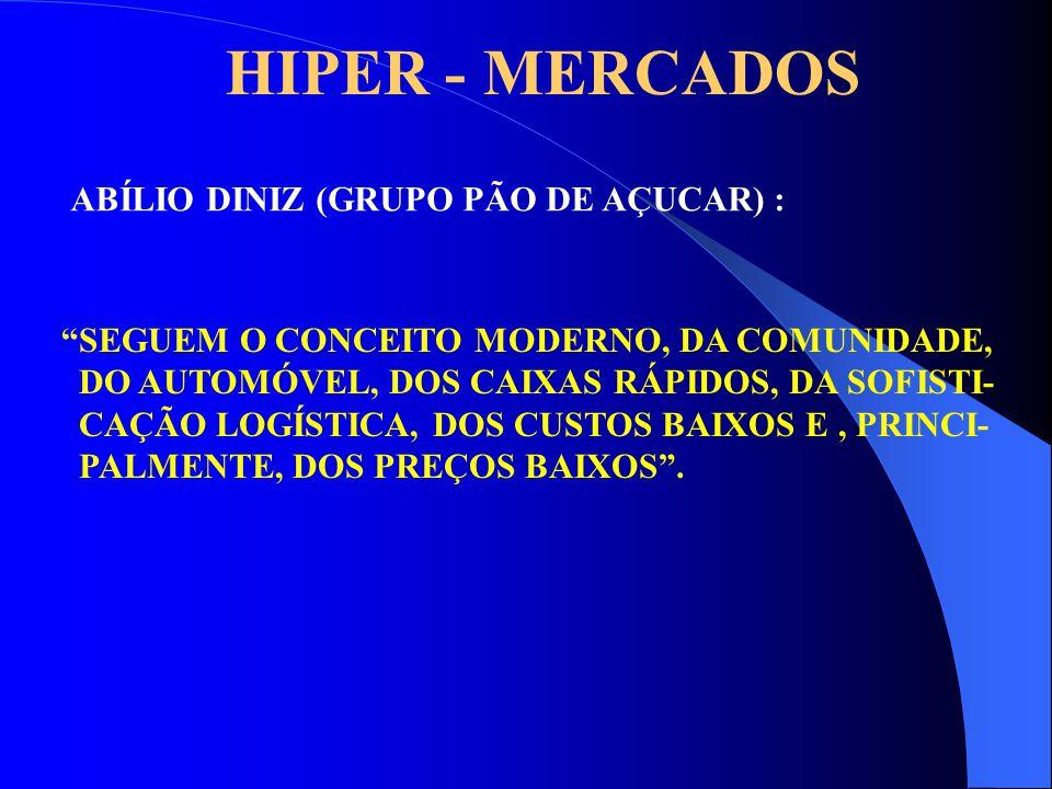 HIPER - MERCADOS ABÍLIO DINIZ (GRUPO PÃO DE AÇUCAR) :