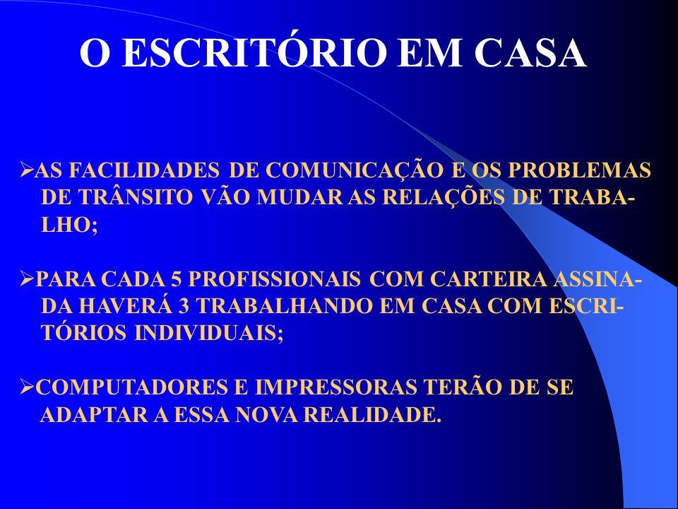 O ESCRITÓRIO EM CASA AS FACILIDADES DE COMUNICAÇÃO E OS PROBLEMAS