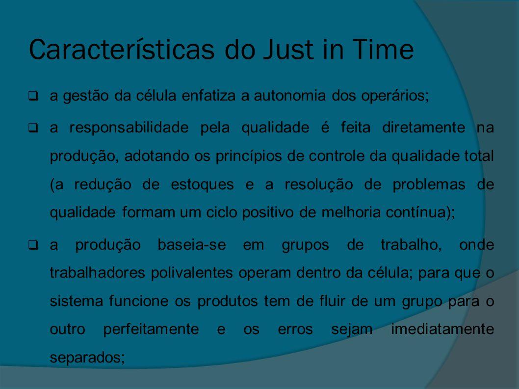 Características do Just in Time