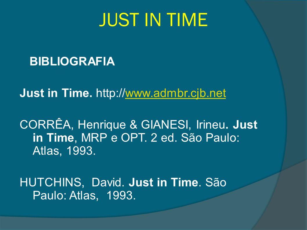 JUST IN TIME BIBLIOGRAFIA Just in Time. http://www.admbr.cjb.net