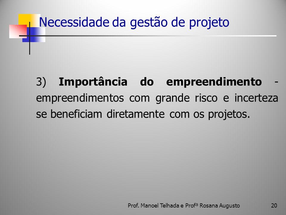 Necessidade da gestão de projeto