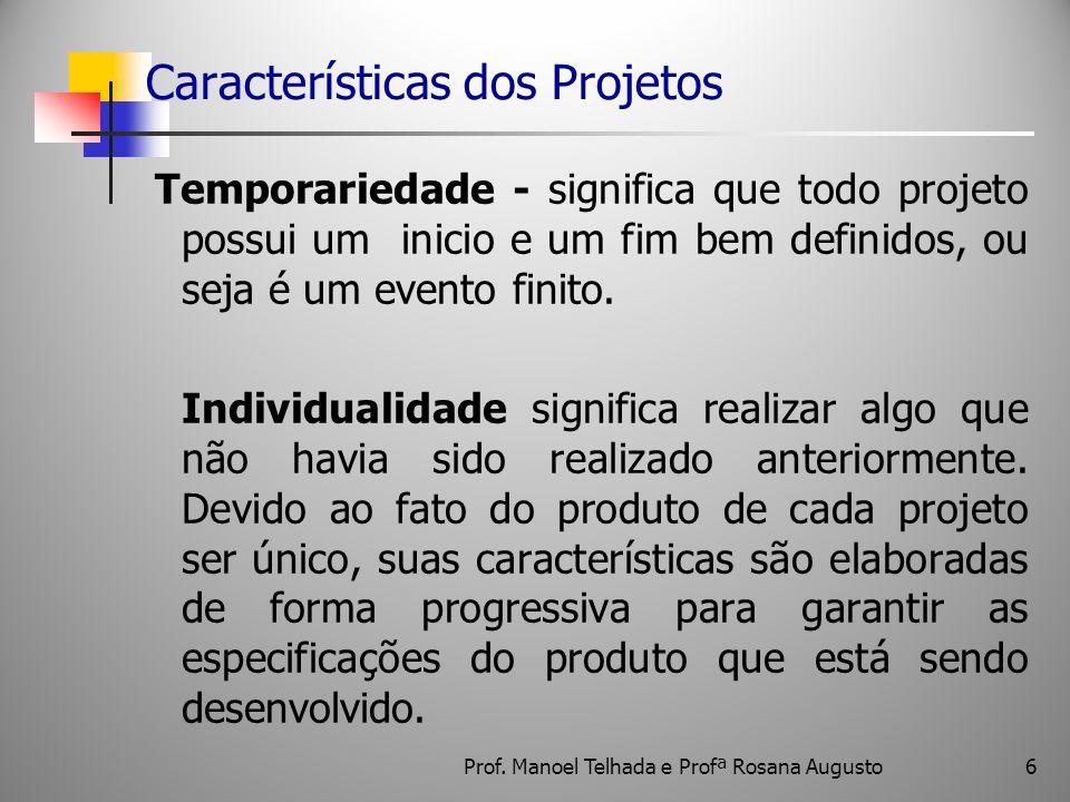 Características dos Projetos