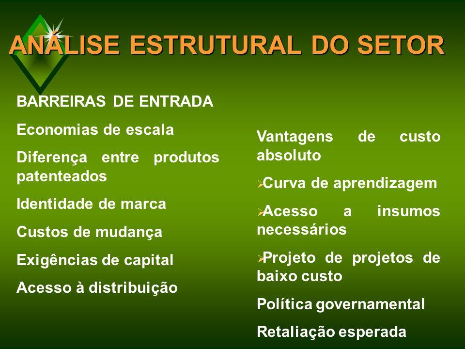 ANÁLISE ESTRUTURAL DO SETOR