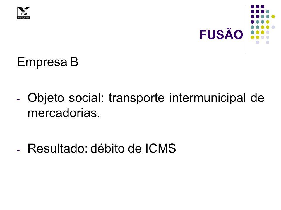 Fusão - ICMS (alíquota geral 18%)