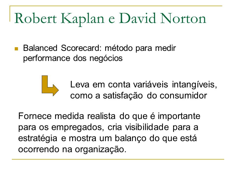 Robert Kaplan e David Norton