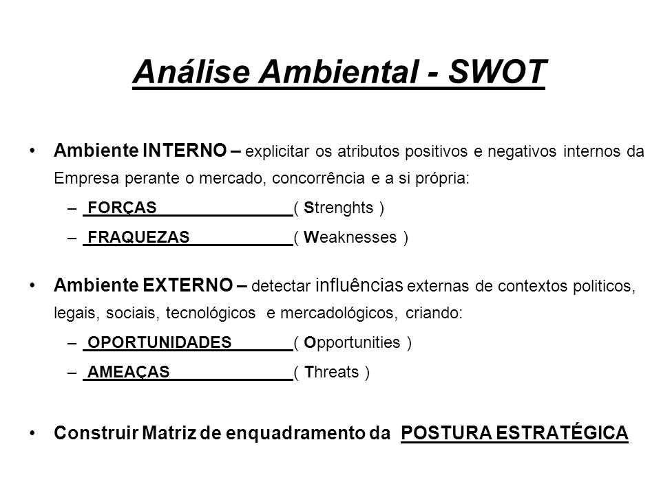 Análise Ambiental - SWOT
