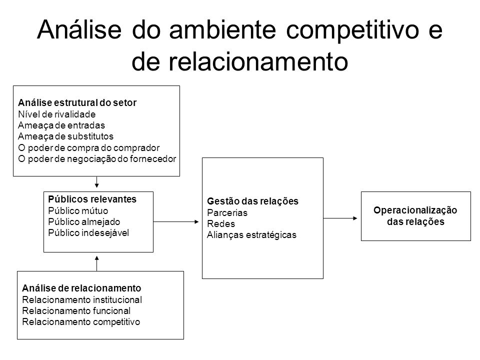 Análise do ambiente competitivo e de relacionamento