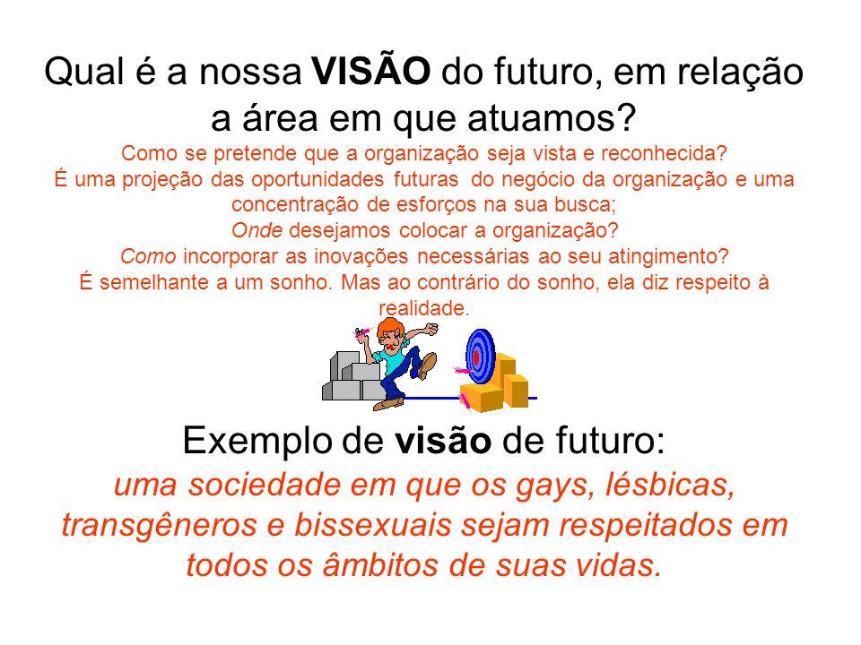 Qual é a nossa VISÃO do futuro, em relação a área em que atuamos