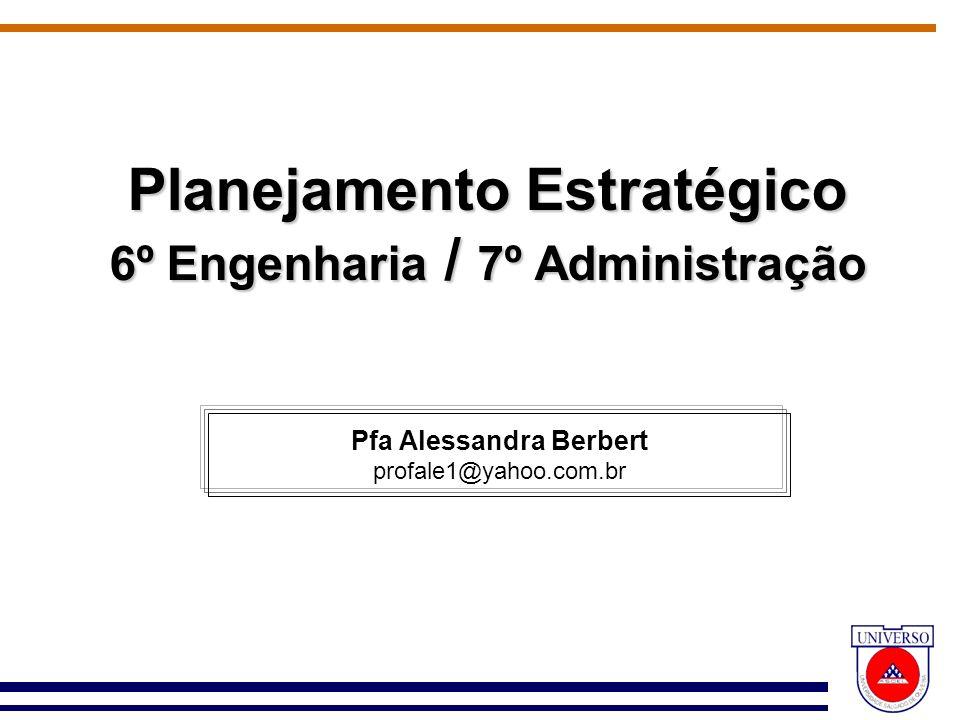 Planejamento Estratégico 6º Engenharia / 7º Administração