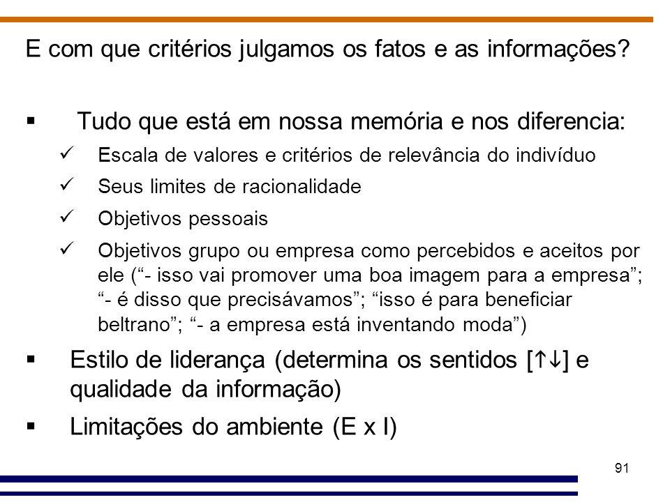 E com que critérios julgamos os fatos e as informações