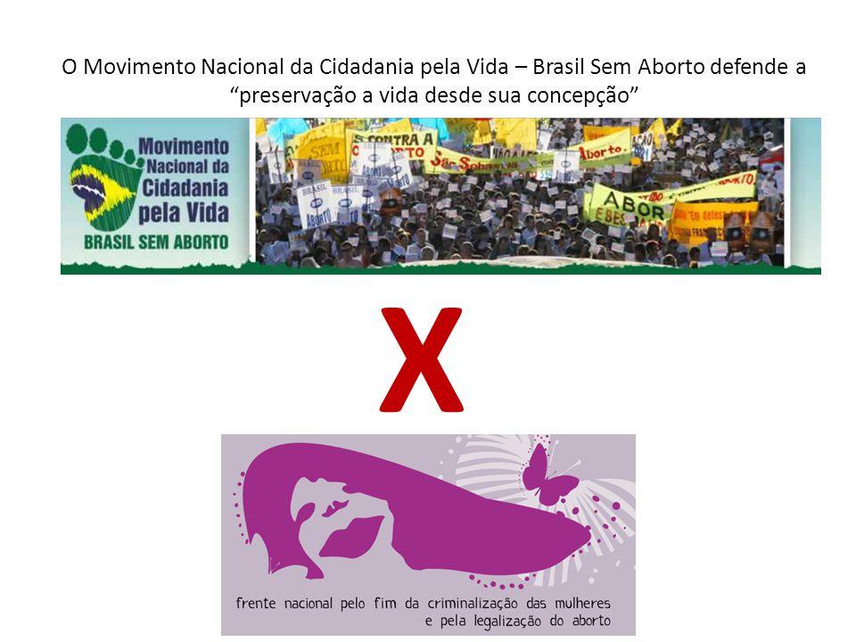 O Movimento Nacional da Cidadania pela Vida – Brasil Sem Aborto defende a preservação a vida desde sua concepção