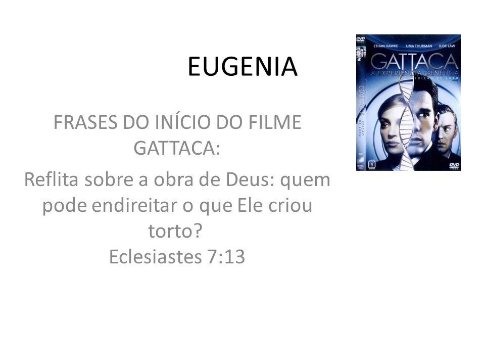 FRASES DO INÍCIO DO FILME GATTACA: