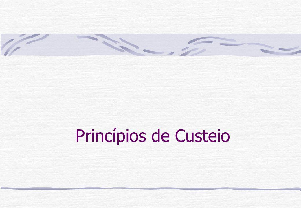 Princípios de Custeio