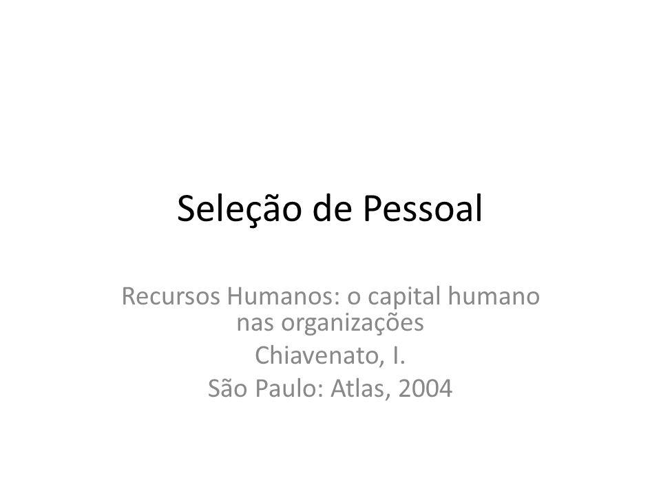 Recursos Humanos: o capital humano nas organizações