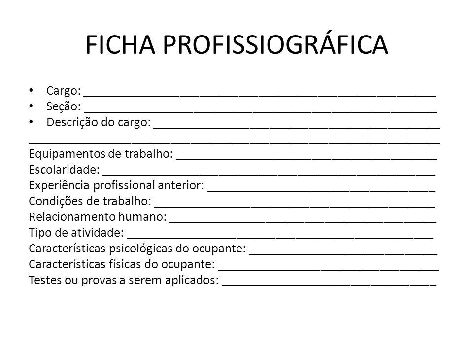 FICHA PROFISSIOGRÁFICA