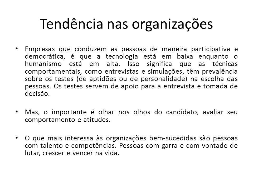 Tendência nas organizações