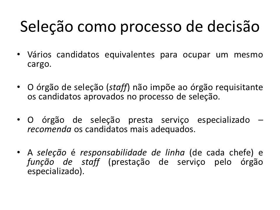 Seleção como processo de decisão