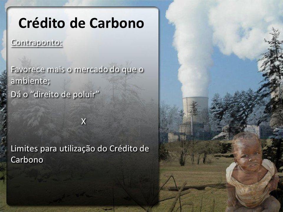 Crédito de Carbono Contraponto: