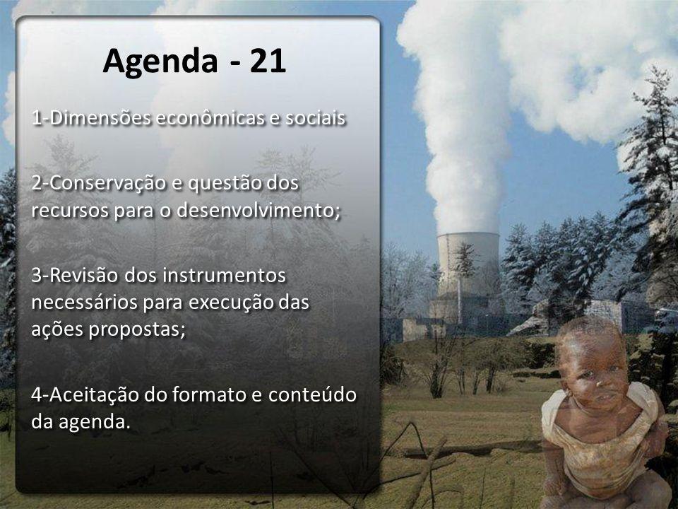 Agenda - 21 1-Dimensões econômicas e sociais