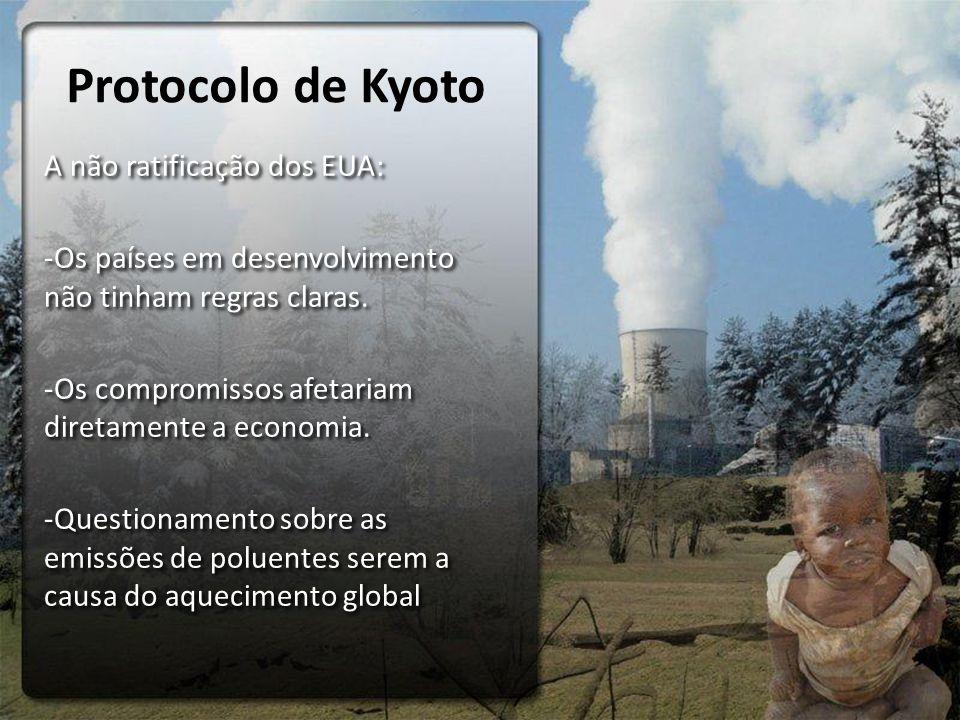 Protocolo de Kyoto A não ratificação dos EUA: