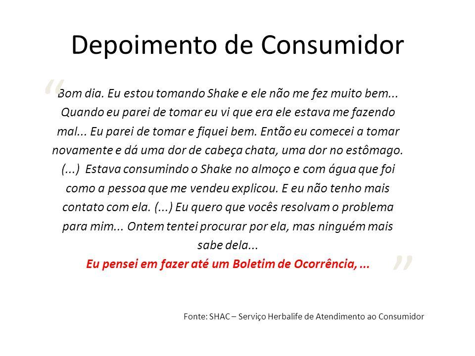 Depoimento de Consumidor