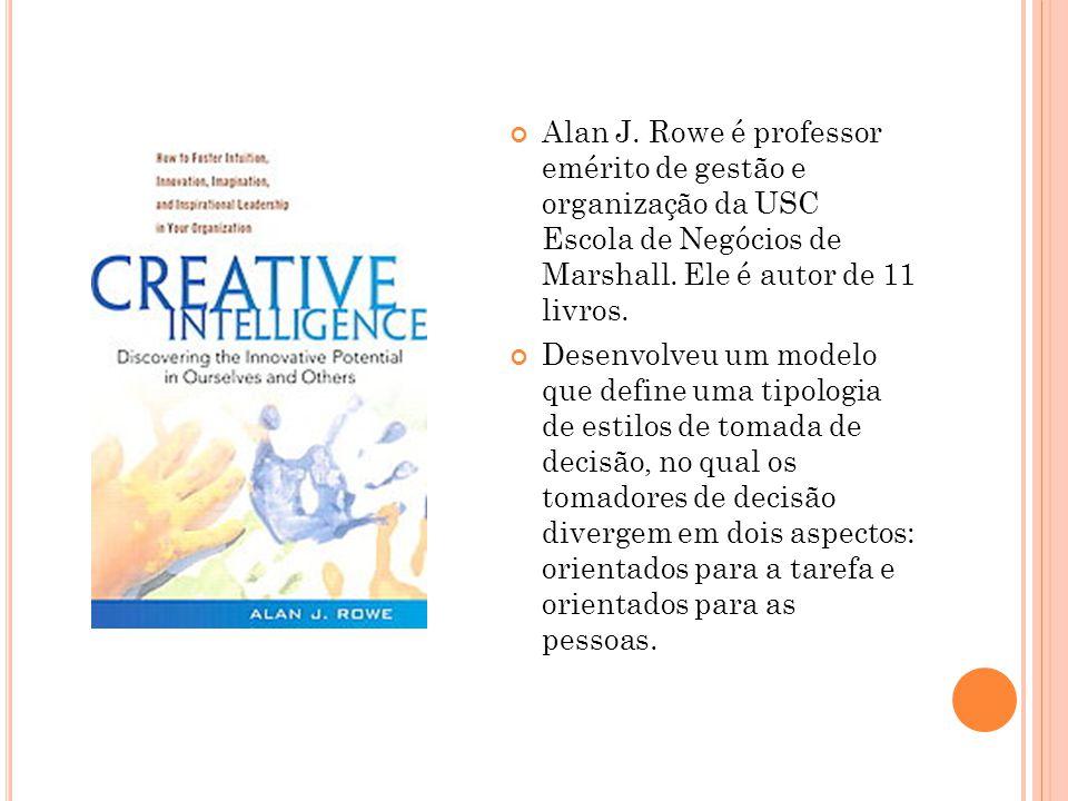 Alan J. Rowe é professor emérito de gestão e organização da USC Escola de Negócios de Marshall. Ele é autor de 11 livros.