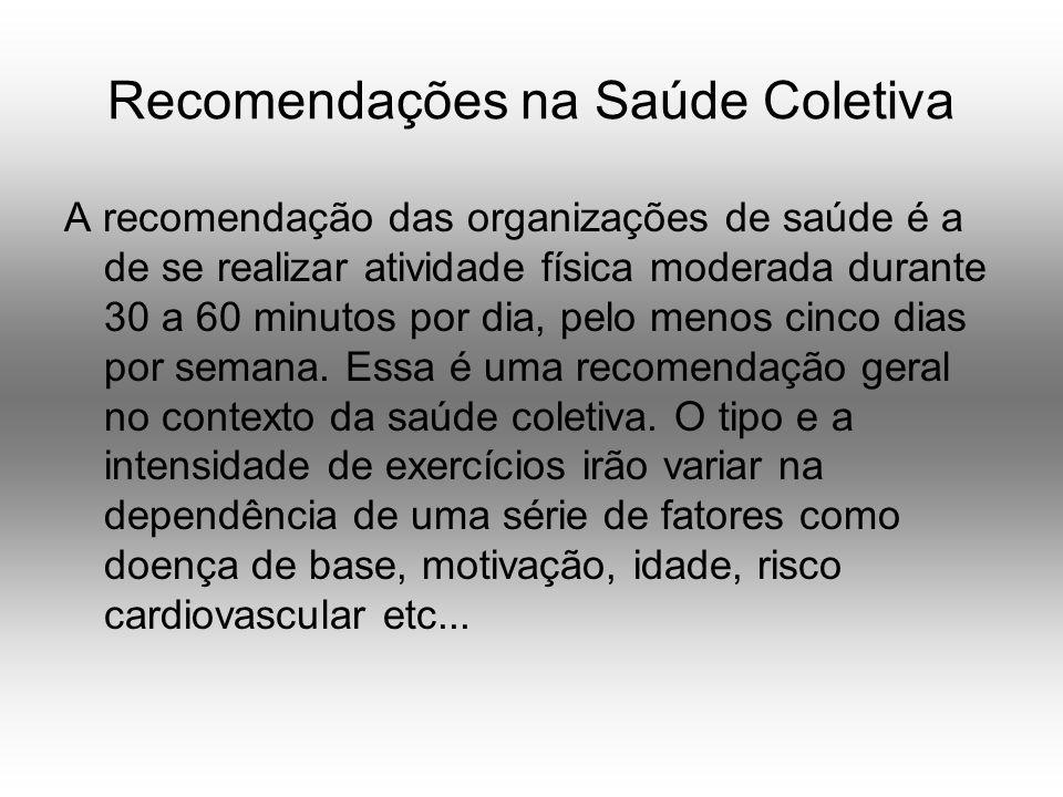 Recomendações na Saúde Coletiva