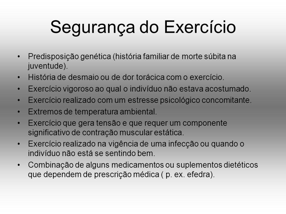Segurança do Exercício