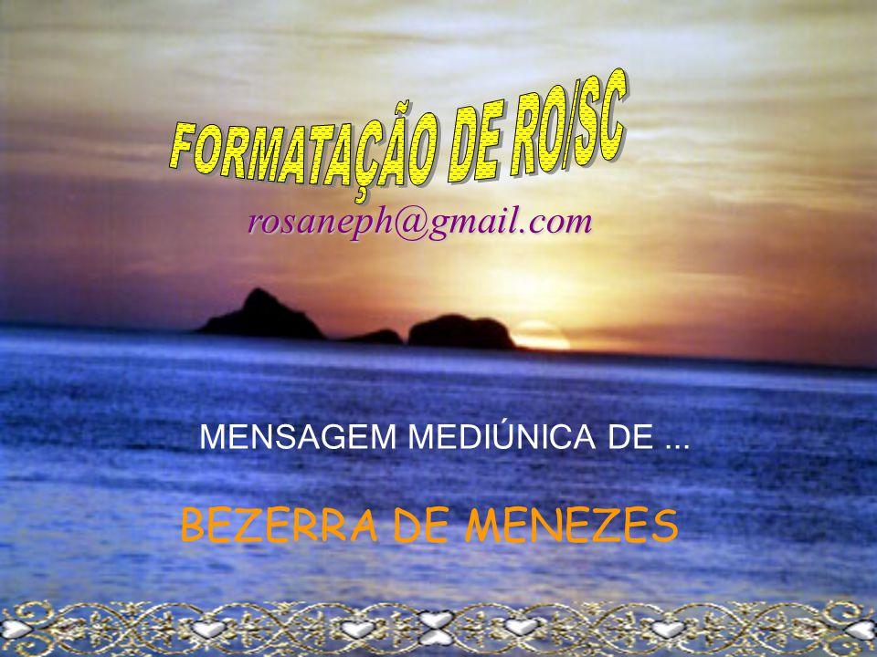 BEZERRA DE MENEZES rosaneph@gmail.com FORMATAÇÃO DE RO/SC