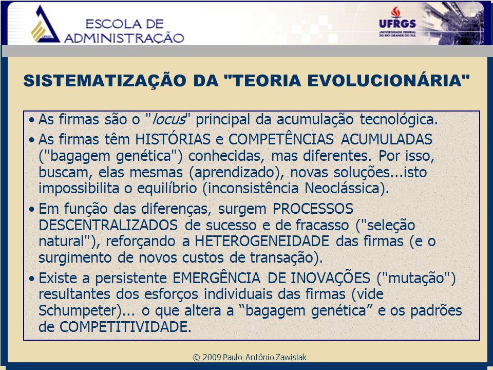 SISTEMATIZAÇÃO DA TEORIA EVOLUCIONÁRIA