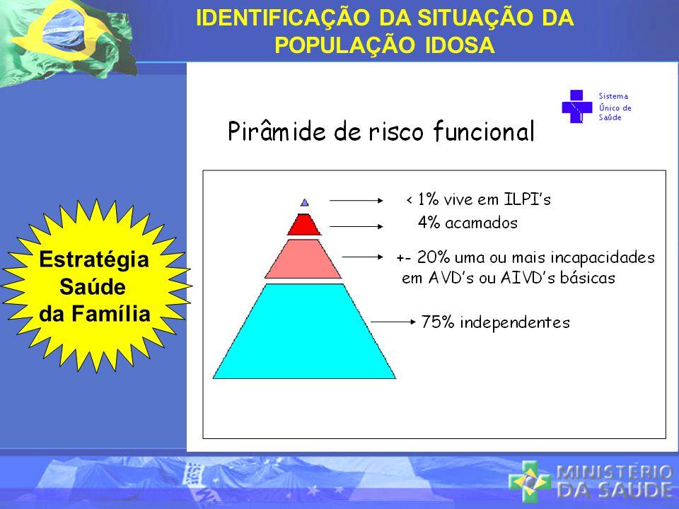 IDENTIFICAÇÃO DA SITUAÇÃO DA POPULAÇÃO IDOSA