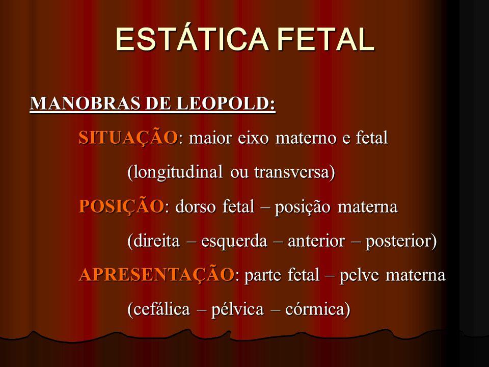 ESTÁTICA FETAL MANOBRAS DE LEOPOLD: