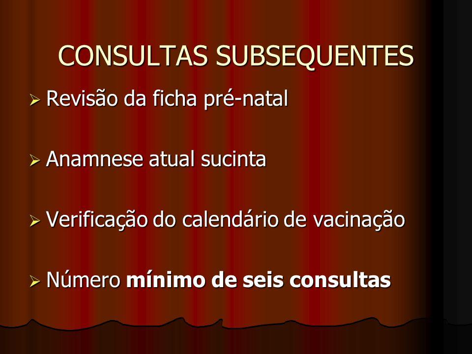 CONSULTAS SUBSEQUENTES