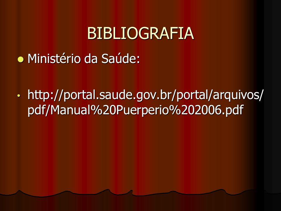 BIBLIOGRAFIA Ministério da Saúde: