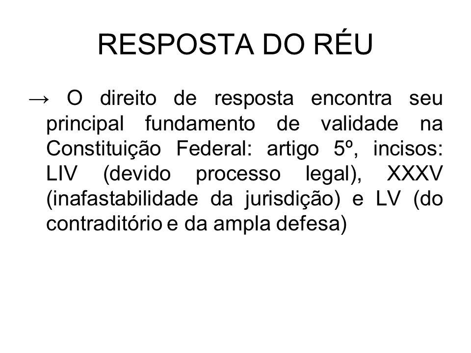 RESPOSTA DO RÉU