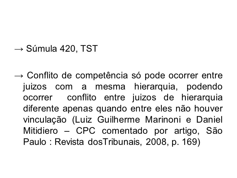 → Súmula 420, TST