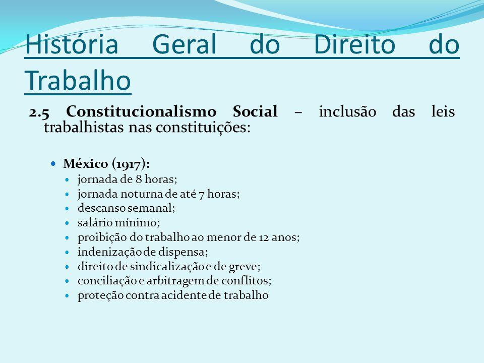 História Geral do Direito do Trabalho