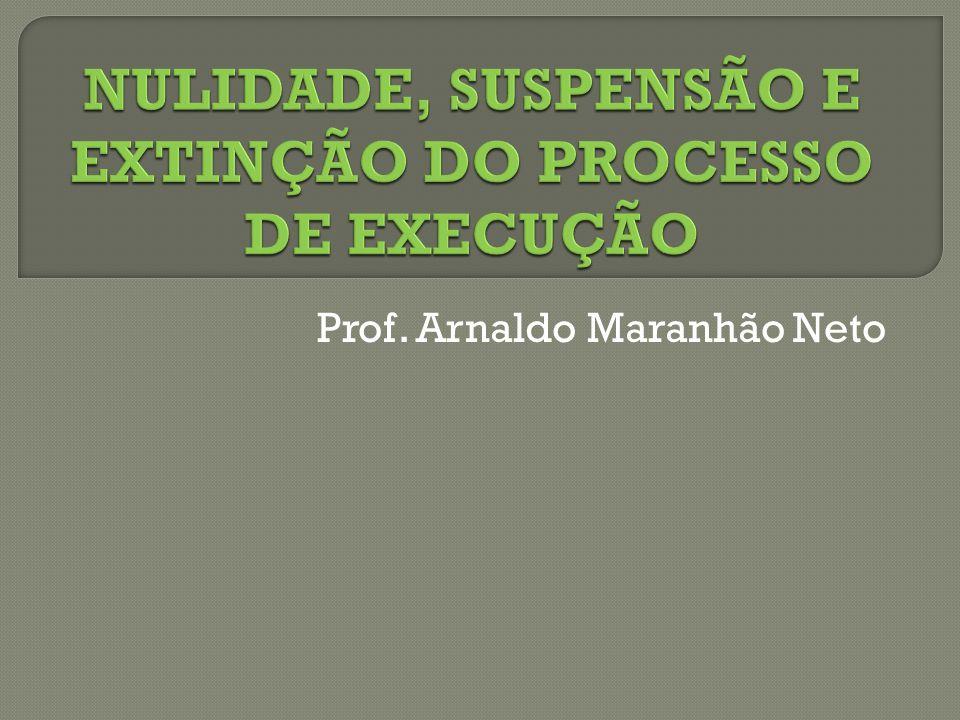 NULIDADE, SUSPENSÃO E EXTINÇÃO DO PROCESSO DE EXECUÇÃO