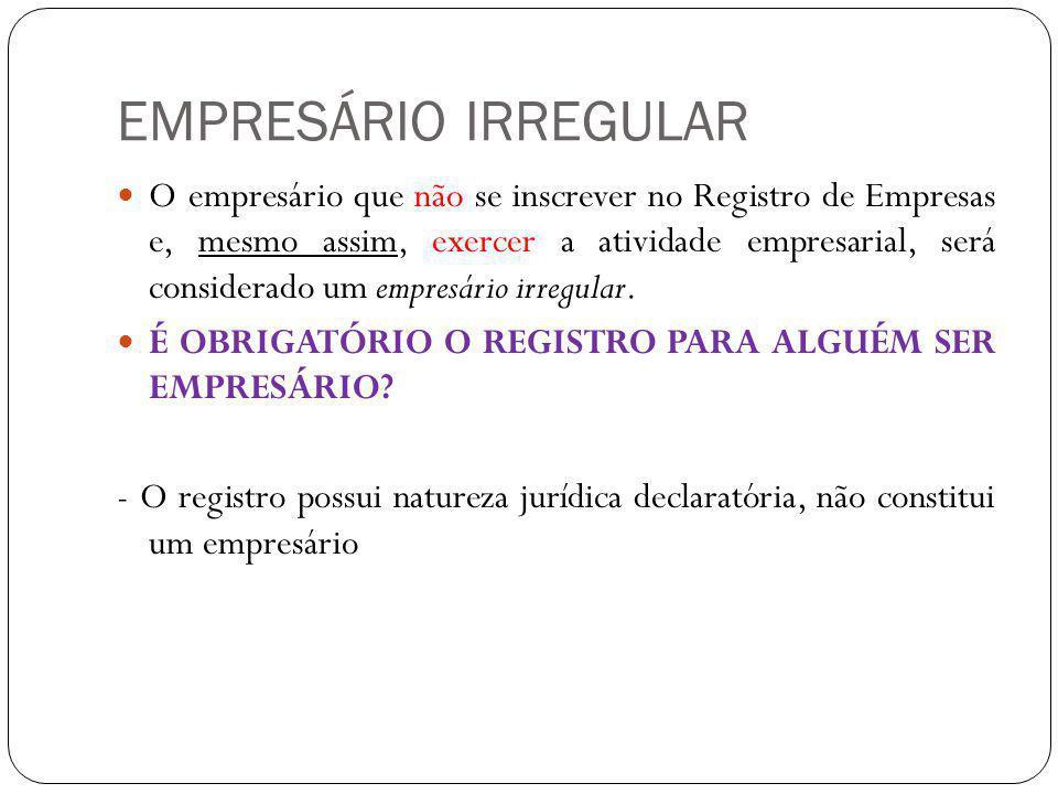 EMPRESÁRIO IRREGULAR