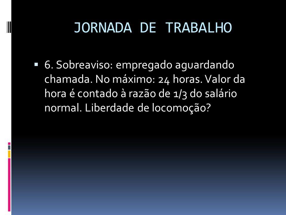JORNADA DE TRABALHO